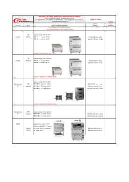 pece statické elektro i plyn - Gastroservis