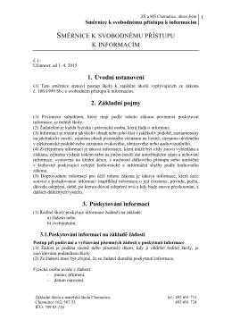 Směrnice k svobodnému přístupu k informacím