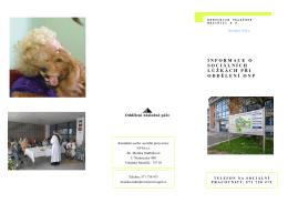 Informace o sociálních lůžkách při oddělení následné péče