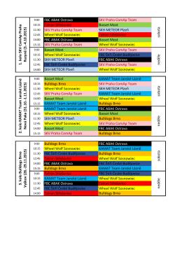 Rozpis zápasů 2015/2016