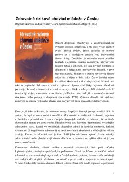 Zdravotně rizikové chování mládeže v Česku