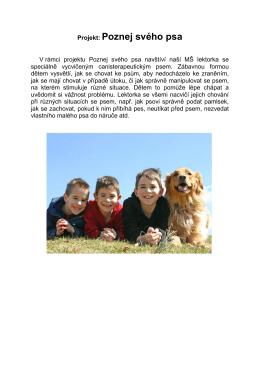 Projekt: Poznej svého psa