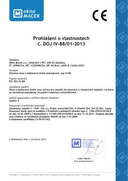 Příklad 2: Označení CE u stavebního výrobku