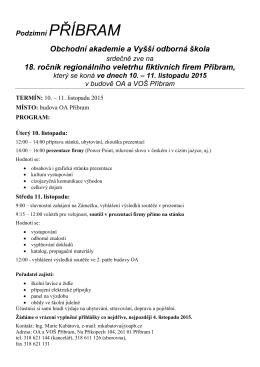 Obchodní akademie a Vyšší odborná škola 18. ročník regionálního