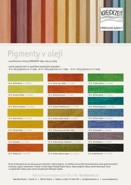 Pigmenty v oleji