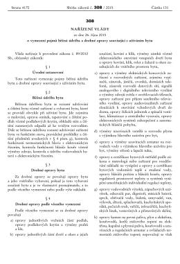NAŘÍZENÍ VLÁDY ze dne 26. října 2015 o vymezení - TZB-info