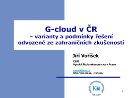 G-cloud v ČR