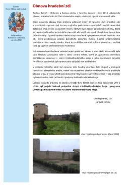 Obnova hradební zdi