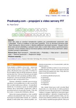 Prednasky.com – propojení s video servery FIT