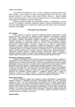 Realizace projektu Farmacie II