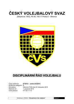 07-12 Disciplinární řád volejbalu