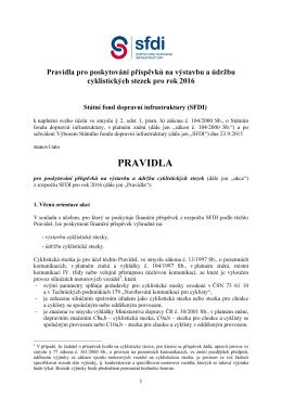 PRAVIDLA - Státní fond dopravní infrastruktury