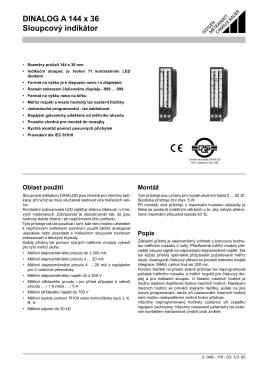 DINALOG A 144 x 36 Sloupcový indikátor - GMC