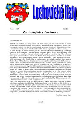 Lochovické listy č.2 září 2015
