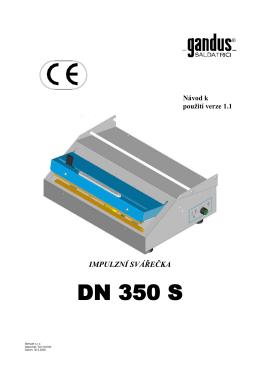 Návod na použití DN 350