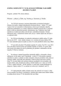 Zápis z VH 27.4.2015