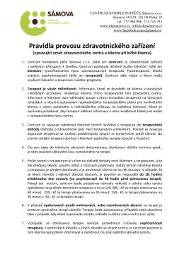 Pravidla provozu CKP Sámova k 14.7.2015 POPLATEK