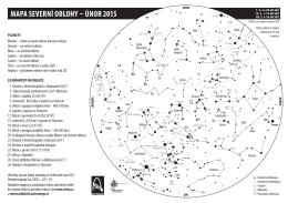 MAPA SEVERNÍ OBLOHY – úNOR 2015
