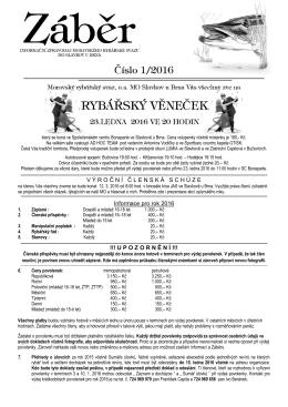 Záběr 2016 - Moravský rybářský svaz, o.s. místní organizace