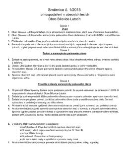 Směrnice č. 1/2015 o hospodaření v obecních - Bílovice
