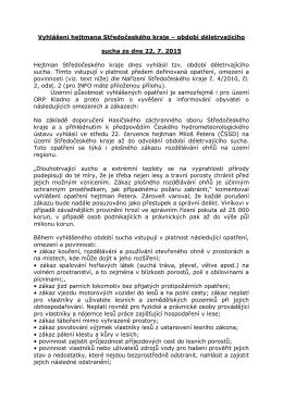 Vyhlášení hejtmana Středočeského kraje – období déletrvajícího