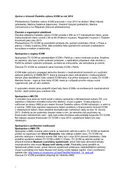 Zpráva o činnosti Českého výboru ICOM za uplynulé období za rok