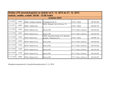 Služby LPS stomatologické na období od 5. 12. 2015 do 27
