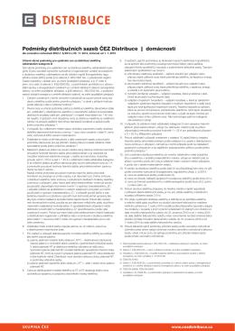 Podmínky distribučních sazeb ČEZ Distribuce | domácnosti