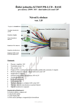 Řídící jednotka KT36SVPR-LCD - BASE Návod k - E