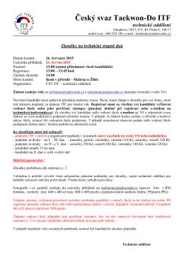Český svaz Taekwon-Do ITF technické oddělení