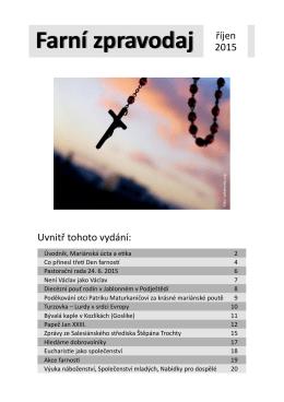 Farní zpravodaj říjen - Salesiánské středisko Štěpána Trochty