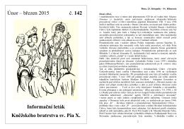 Informační leták č. 142 / únor - březen