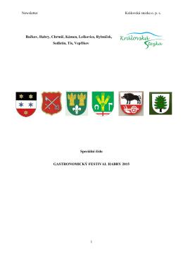 Newsletter Královská stezka o. p. s. 1 Bačkov, Habry, Chrtníč