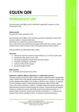 Produktový list Q08
