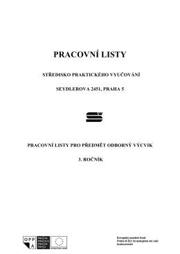 Pracovni Listy pro 3. rocnik