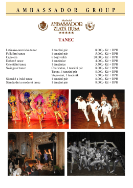 Latinsko-americká tance 1 taneční pár 8.000,