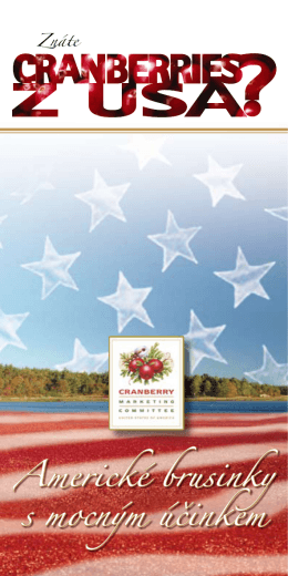 Americké brusinky s mocným účinkem