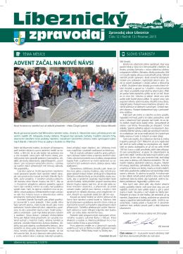 Líbeznický zpravodaj 2015/12