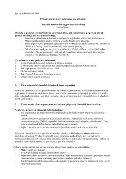 informace pro uživatele Linezolid Actavis 600 mg potahované