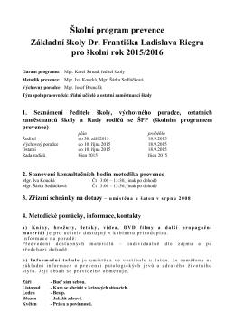 Školní preventivní program