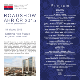 ROADSHOW AHR ČR 2015