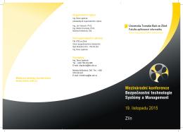 Mezinárodní konference Bezpečnostní technologie Systémy a