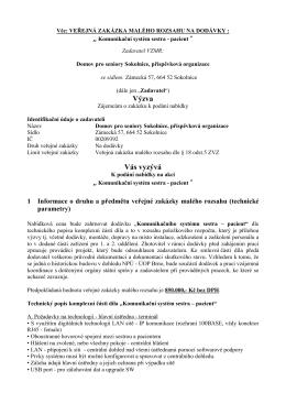 Výzva_Komunikační systém sestra pacient_1.a 2.odd.