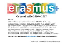 Odborné stáže 2016 – 2017