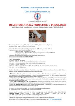 diabetologická podiatrie v podologii