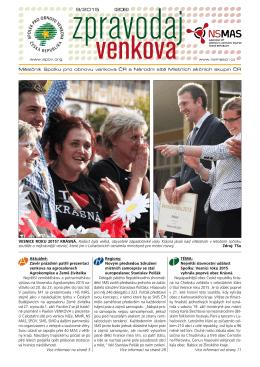 Zpravodaj venkova 9/2015