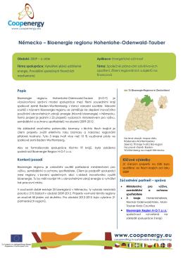 Německo – Bioenergie regionu Hohenlohe-Odenwald