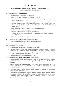 Schválené usnesení 2015 - SVOL - Sdružení vlastníků obecních a