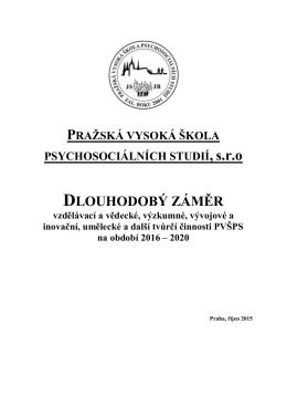 Šablona pro psaní skript - Pražská vysoká škola psychosociálních