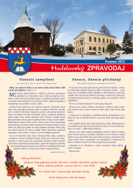 Prosinec - Hodslavice